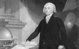 Engraving of James Madison done between 1809 and 1817.