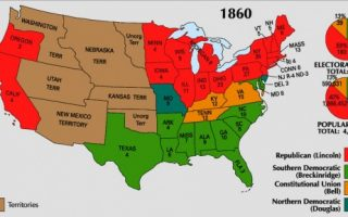 <p>Results from the 1860 election. Courtesy of the National Atlas of the United States. </p>