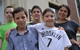 <p>Students at Mary McDowell Friends School in Brooklyn, New York</p>