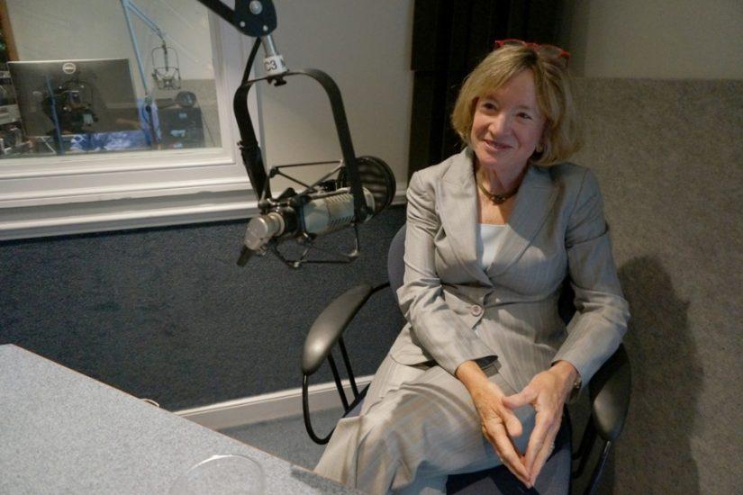 <p>Marcie Simms in the VFH studio>