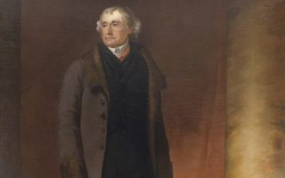 Thomas Jefferson portrait by George Catlin, after a painting by Thomas Sully. Courtesy Library of Virginia.