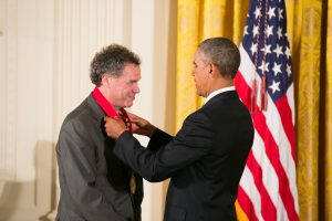 Ed Ayers receiving the National Medal for the Humanities. Photo credit Ralph Alswang, courtesy of NEH.