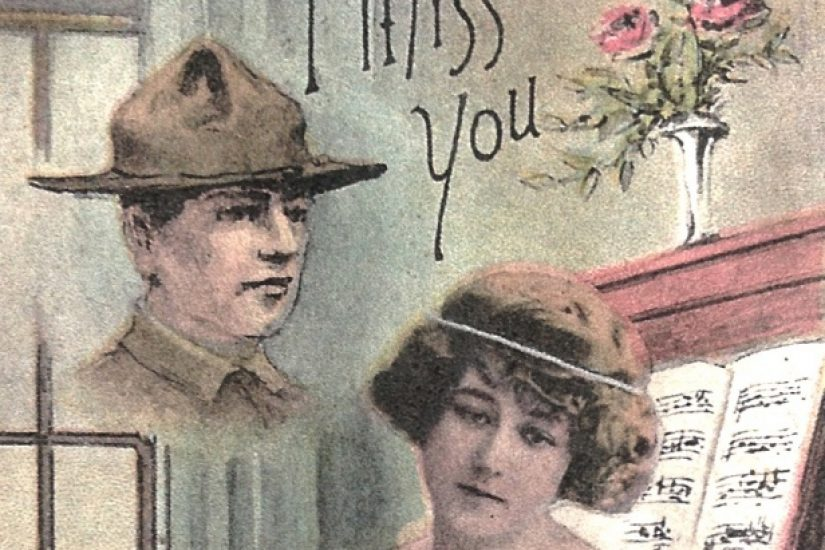 A postcard to a Fluvanna County soldier serving in France - Fluvanna Historical Society
