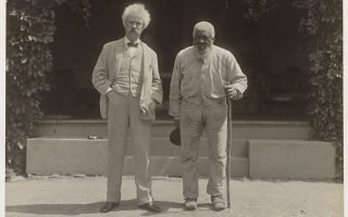 John T. Lewis and Samuel Clemens - Image courtesy Library of Congress