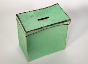 This ballot box was used to count African American votes in King George County in 1867. (Library of Virginia)