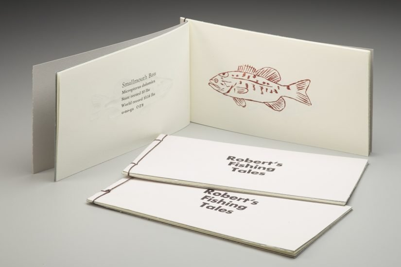 Fishing Tales, a , limited edition letterpress book in English, Latin and Cherokee - Courtesy of Frank Brannon