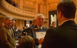 Retiring VFH President Robert C. Vaughan is honored at the Virginia General Assembly. - Photo by Pat Jarrett/VFH