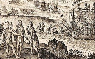 The Abduction of Pocahontas (1619, Johann Theodor de Bry)