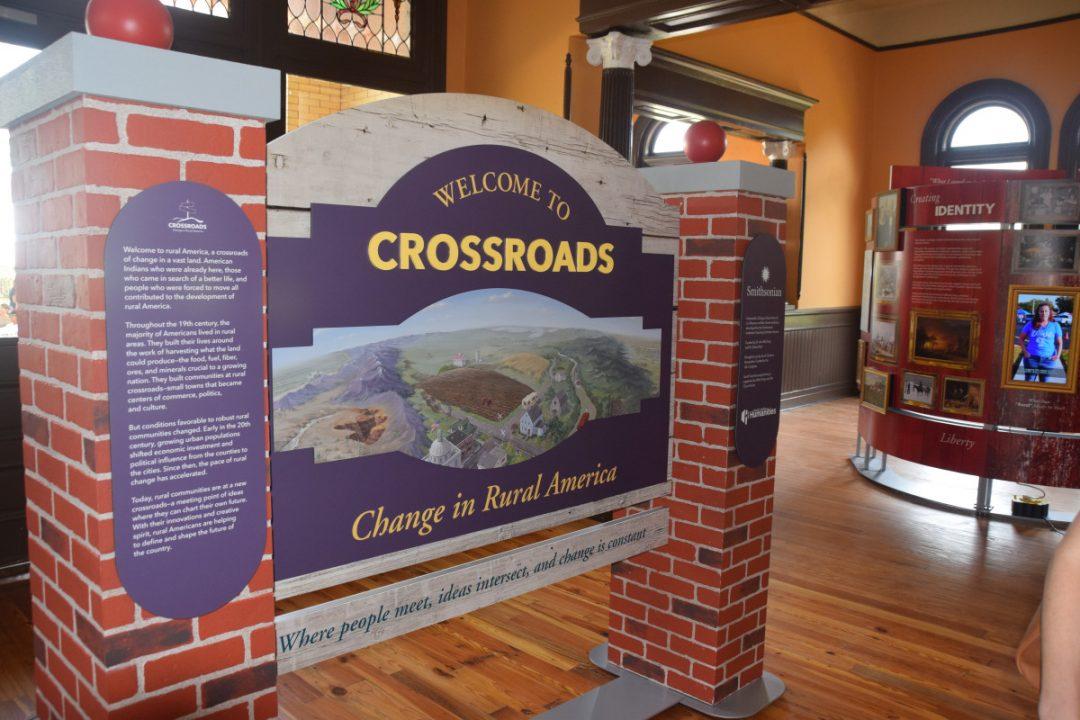 Crossroads Exhibit Sign