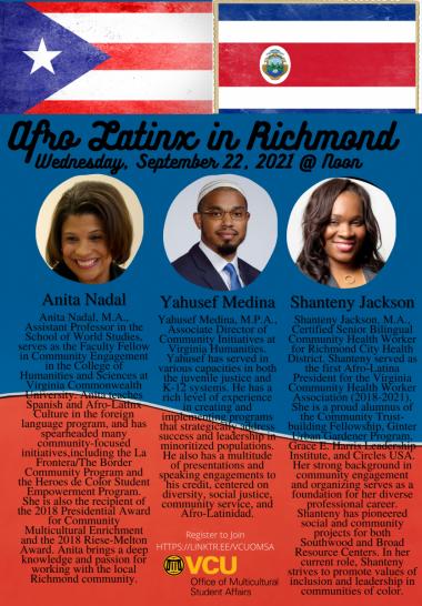 Event Flyer with Panelist Descriptions